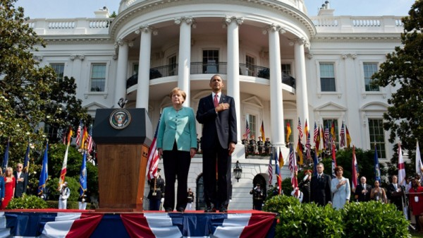 Angela Merkel with US president Barack Obama on a state visit to the White House in 2011 (Pic: White House/Pete Souza)