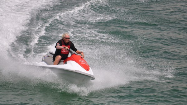 Richard Branson: Speeding to a low carbon economy? (Pic: Flickr/D@LY3D)