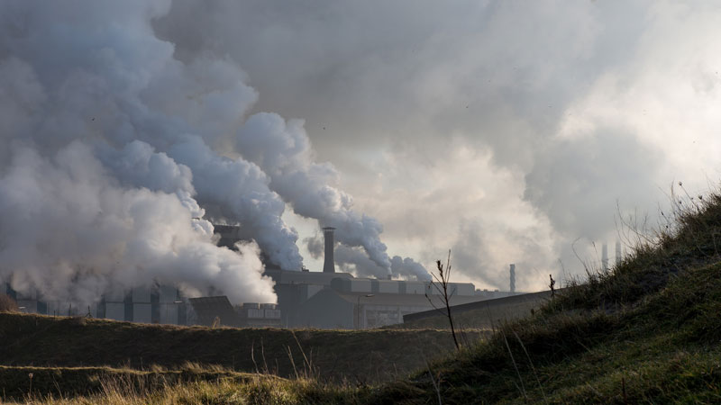Steel production creates around 7% of human-caused CO2 emissions (Pic: Marcel Oosterwijk/Flickr)