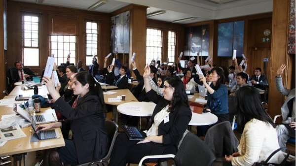 Students play the role of countries, lobbyists and NGOs in mock UN climate talks (Pic: Blavatnik School of Government)