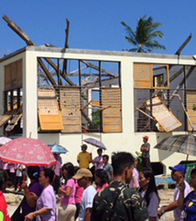 Damage in Guiuan caused by Typhoon Haiyan (Pic: Nick Nuttall/UNFCCC)