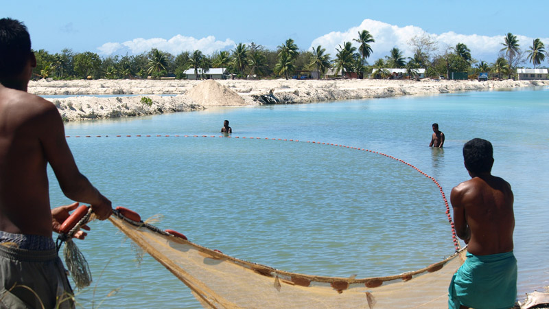 Kiribati's population is expected to face increased threats as climate change causes oceans to warm and sea levels to rise (Pic: AusAID/Flickr)