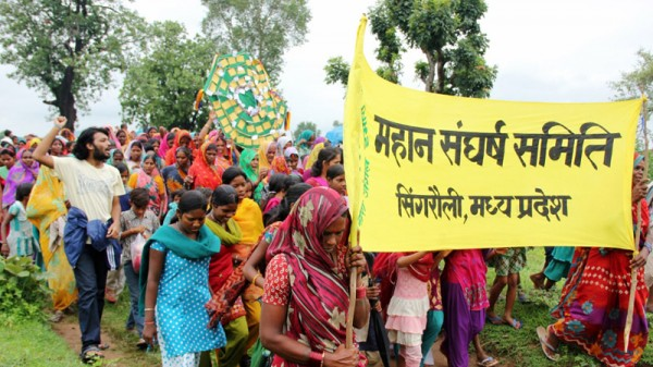 Local villagers have been opposing a new coal mine in the Mahan forests in central India (Pic: Avik Roy)