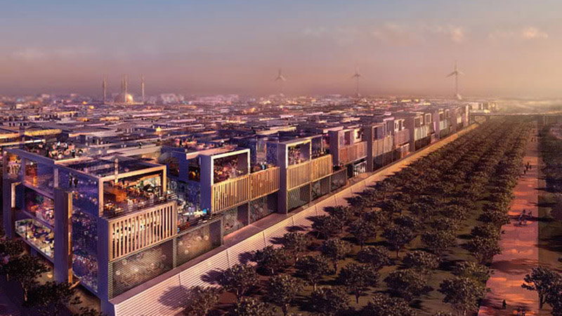 Artists impression of Masdar City, a clean energy powered  sustainable city under construction outside Abu Dhabi (Pic: Forgemind/Flickr)