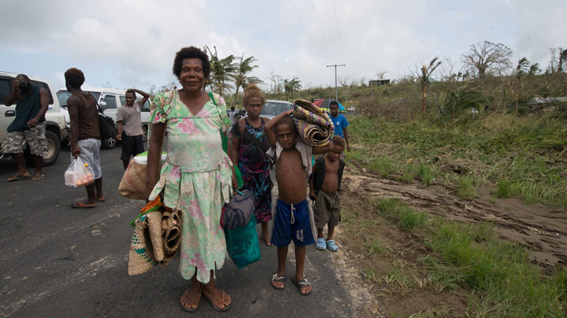 An estimated 45,000 school-aged children have no access to education as a result of Cyclone Pan (Pic: UNICEF)