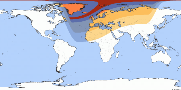 Europe and parts of North Africa will experience a partial eclipse (Source: www.timeanddate.com)