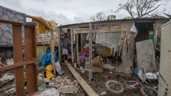 A resident surveys the damage in Vanuatu (Pic: UNICEF)