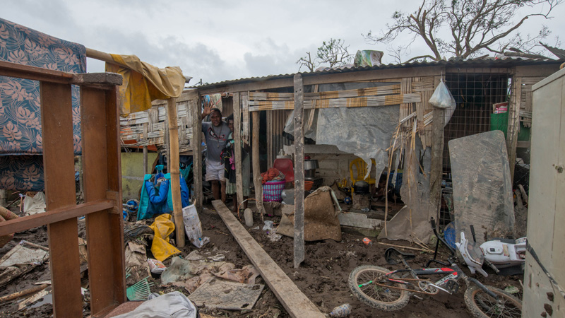 Vanuatu in the wake of Cyclone Pam (Pic: UNICEF)