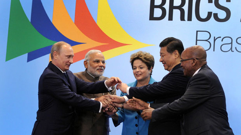 Leaders at the 2014 Brics summit in Brazil celebrate plans for a joint investment bank (Pic: GovernmentZA/Flickr)