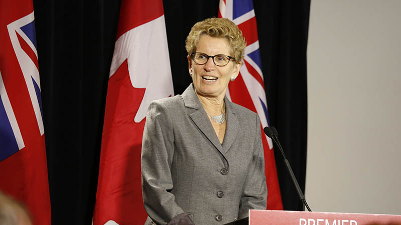 Ontario premier Kathleen Wynne (Pic: Flickr/Liberal Party)