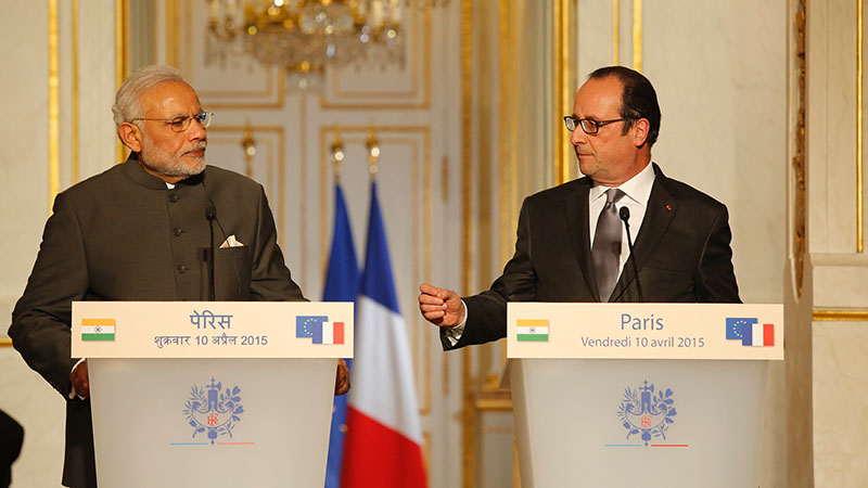 India PM Narendra Modi and France president Francois Hollande (Pic: France in India/Flickr)