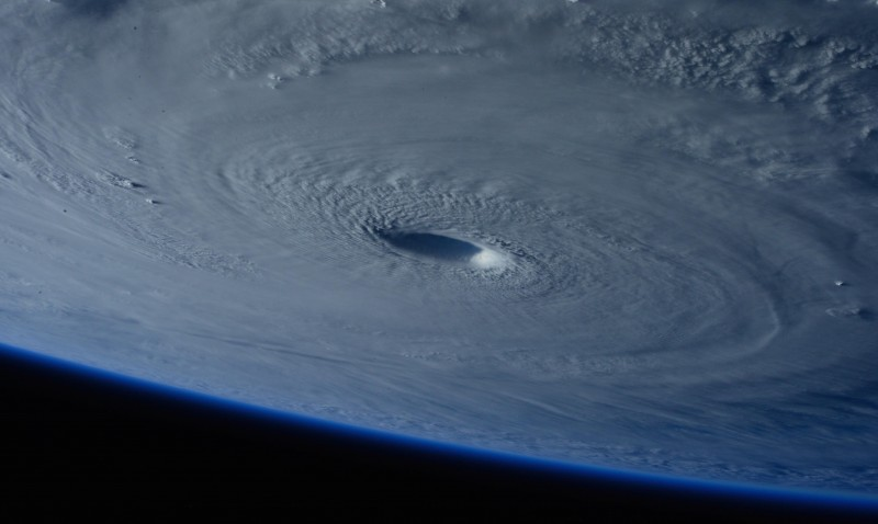 Typhoon Maysak, as seen from the International Space Station on April 2, 2015 (Pic: NASA/Flickr)