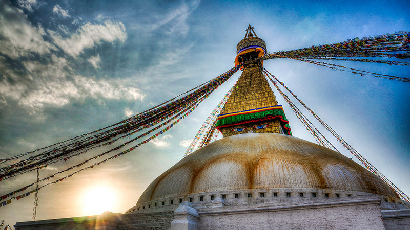 The ancient Buddhist stupa of Boudhanath in Kathmandu, Nepal (Pic: Brandon/Flickr)
