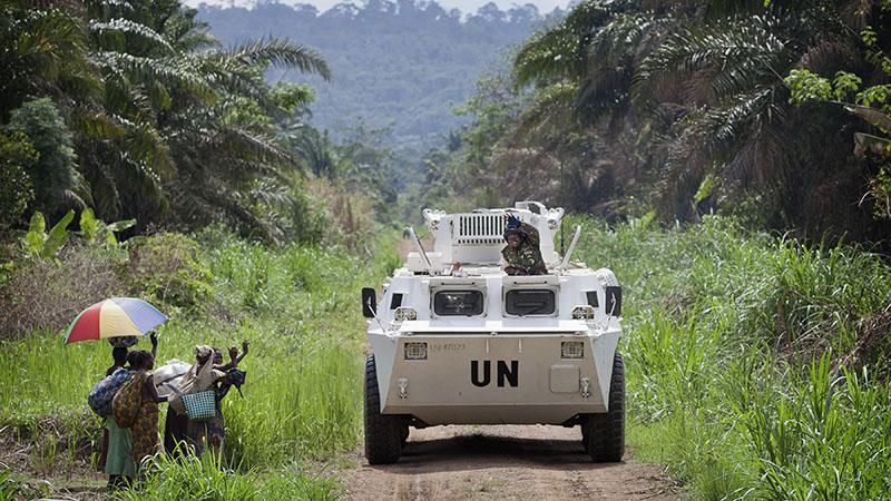 UN peacekeepers patrol Congo's Beni region in an APC (Pic: UN photos//Sylvain Liechti)