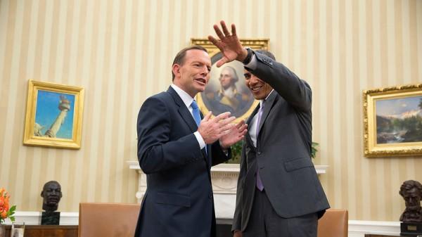 Australia prime minister Tony Abbott with US president Barack Obama in the Oval Office (Pic: Flickr/White House)