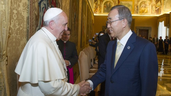 Pope Francis and Ban Ki-moon (Pic: UN Photo)