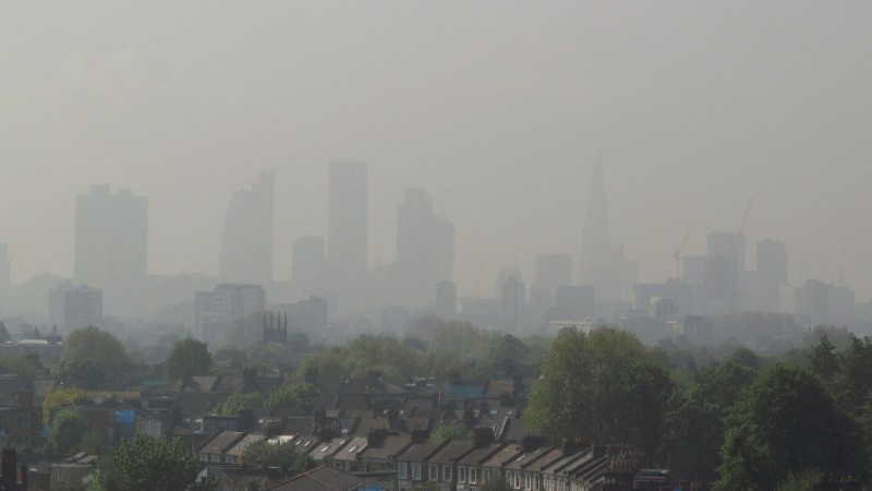 Air pollution obscures air pollution in April 2014 (David Holt / Flickr)