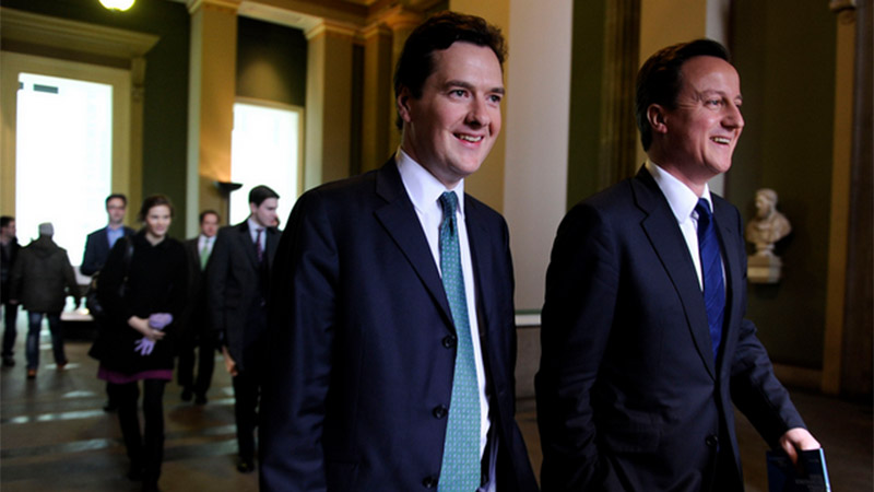 Chancellor George Osborne and prime minister David Cameron (Pic: Conservatives/Flickr)