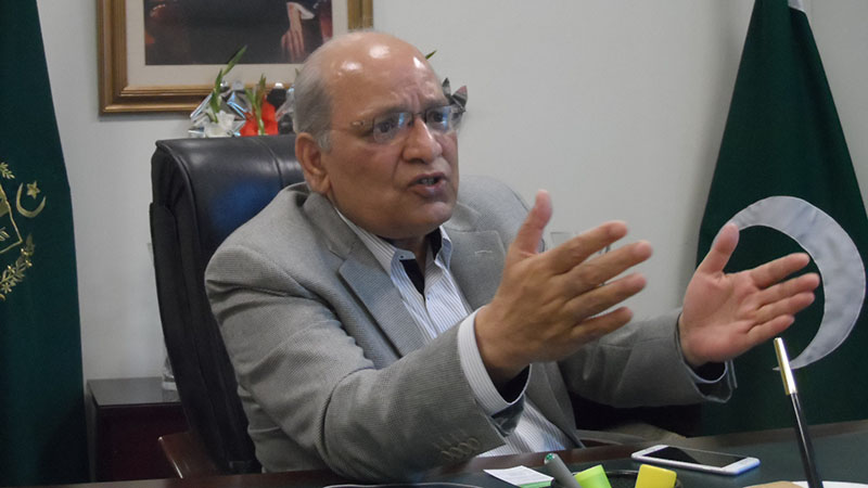 Pakistan federal minister for climate change, senator Mushahid Ullah Khan