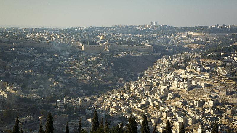 Jerusalem from the sky (UN Photo/Rick Bajornas)