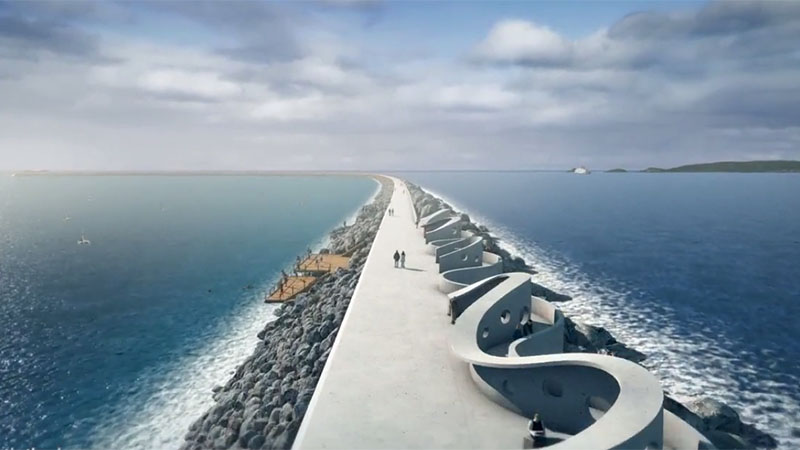 Artists impression of the proposed Swansea Today Lagoon (Pic: http://www.tidallagoonswanseabay.com/)