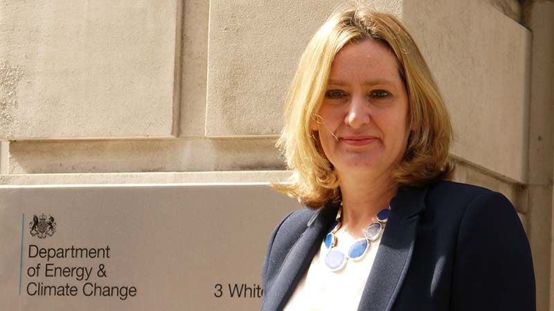 Amber Rudd takes over at the Department for Energy and Climate Change (Flickr/ DECC)