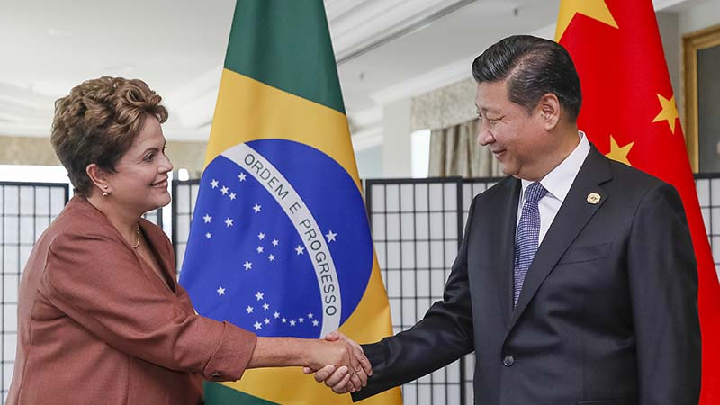 Brazil President Dilma Rousseff with her Chinese counterpart Xi Jinping inn November 2014 (Flickr/ Blog do panalto)