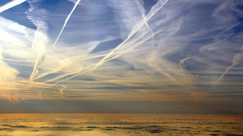 Aviation trails. More countries are moving towards penalties for pollution (Pic: Flickr)