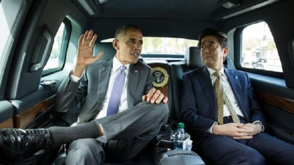 Japanese premier Shinzo Abe met Barack Obama in Washington this week (Pic: White House/Pete Souza)
