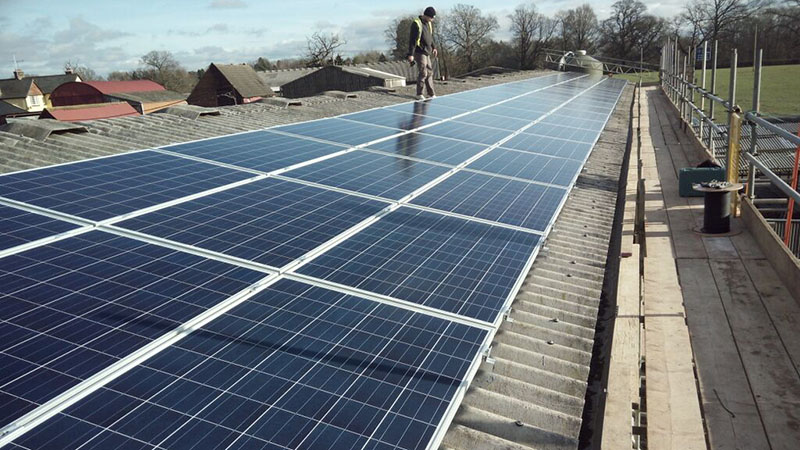 Last year 69 panels were installed in a solar pilot project in the village (Pic: REPOWERBalcombe)