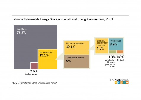 proportion of global energy mix
