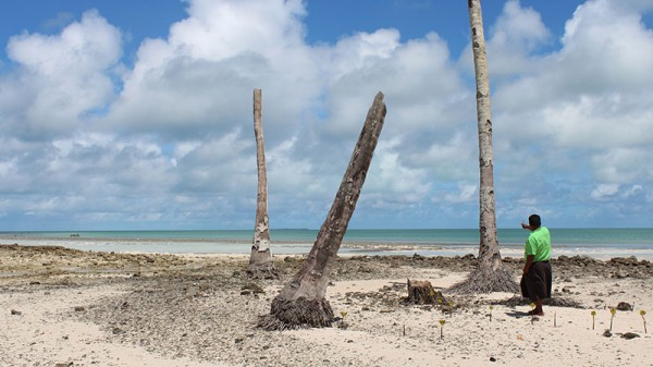The average height of Kiribati's islands is 2m above sea level (Pic: AusAID/Flickr)
