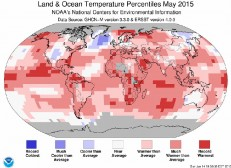 May 2015 was the hottest on record, say US govt scientists