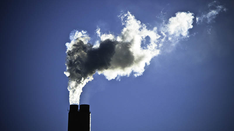 Smokestacks at a power plant in Arizona. The power sector has the most potential to cut carbon (Flickr/ Nick Humphries)