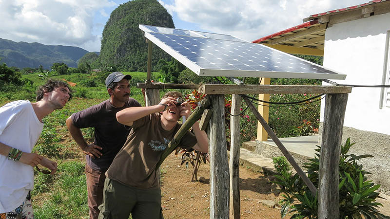 Solar panel in the Vinales valley (Flickr/ marcel601)