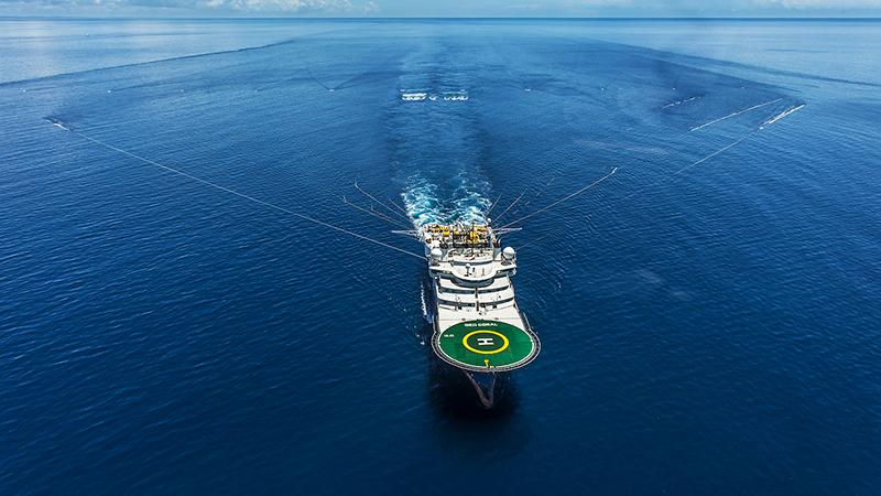 BG Group survey vessel MV Geo Coral undertaking a seismic survey (Pic: BG Group/Flickr)