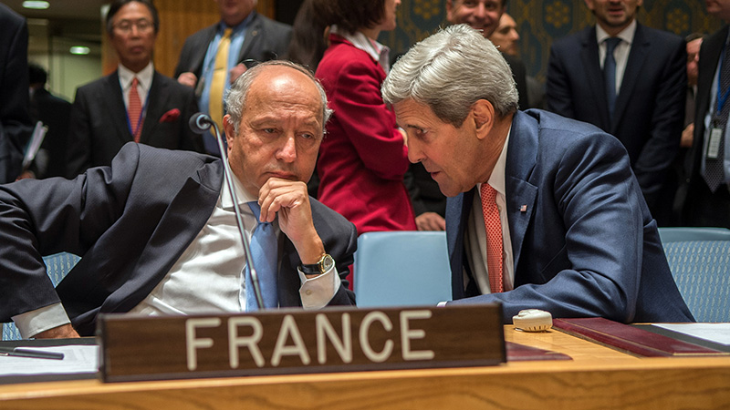 Climate hawks: France's Laurent Fabius and US secretary of state John Kerry will be central to the COP21 talks (Pic: State Department)