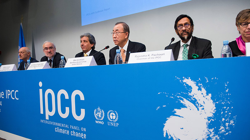 Press Conference at the Launch of the IPCC Synthesis Report (Pic: UN Photos)