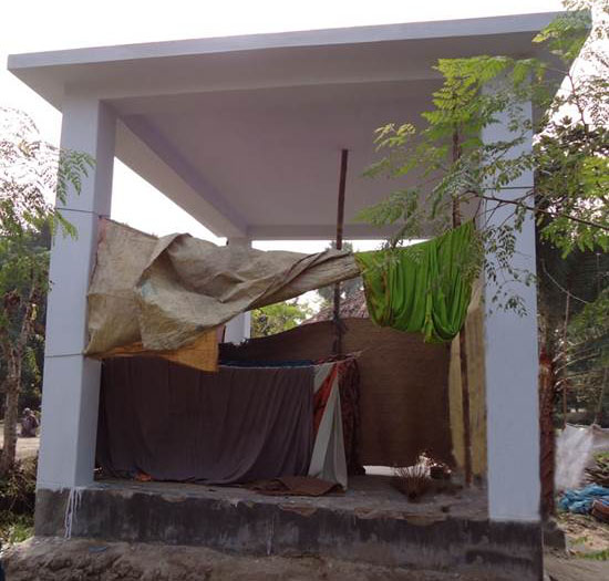 An incomplete house in 2012 after local contractors siphoned off fund in Kulna district (Credit: Transparency International)