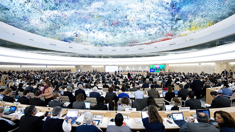 Human Rights Council chamber, Geneva (Pic: UN Photos)