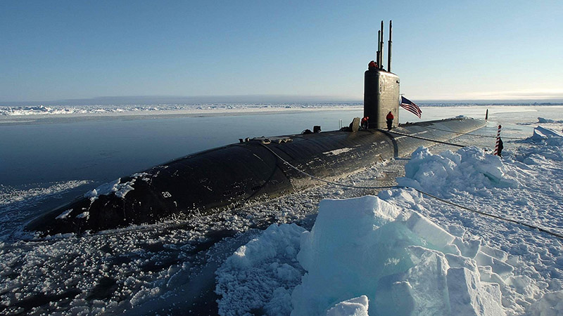 Los Angeles-class attack submarine USS Hampton (SSN 767) surfaced at the North Pole (Pic: Flickr/Tim Webb)