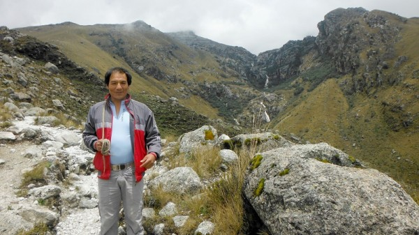 Saul Luciano Lliuya fears for his home in Peru (Pic: GermanWatch)