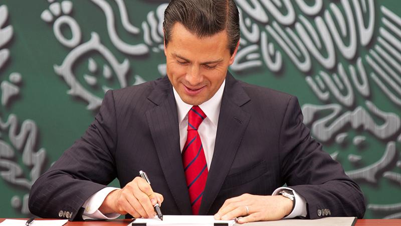 Mexican President Enrique Pena Nieto devised the energy transition law on winning office in 2012 (Flickr/ Mexican President's Office)