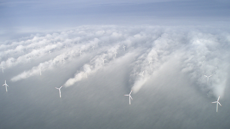 Horns rev wind farm in Denmark. Wind power made up 35%of its electicity needs in 2013 (Flickr/ VattenfalL)