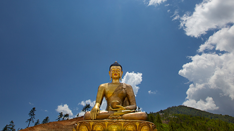 Bhutan's giant Dordenma Buddha, which towers over Thimphu, is one of the largest in the world (Flickr/ Michael Foley)