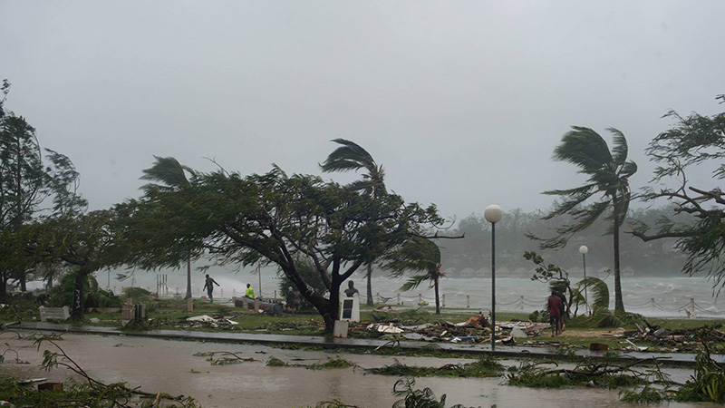 Devastation after cyclone Pam in Port Vila, Vanuatu, March 2015 (credit: wikipedia commons)