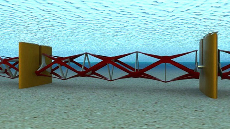 How the rotor blades look installed in a tidal fence configuration (Pic: Kepler Energy)