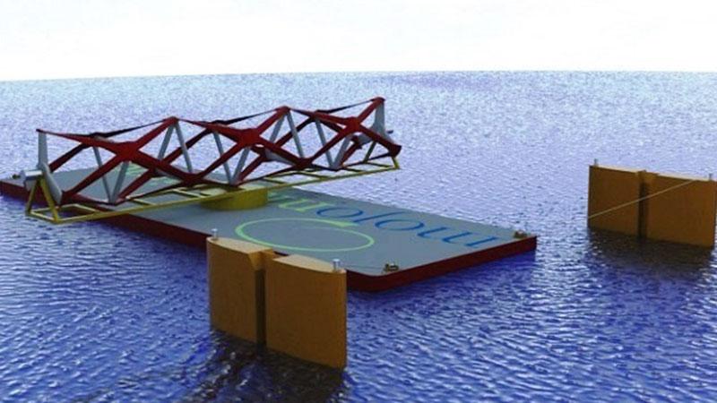 A model of Kepler Energy's tidal fence, pre-deployment (Pic: Kepler Energy)
