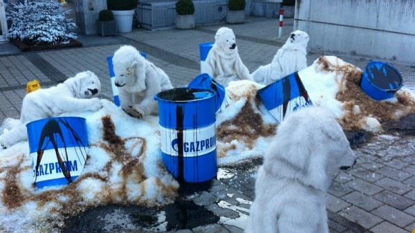 A Greenpeace protest against Gazprom oil drilling in the Arctic (Flickr/Greenpeace Switzerland)