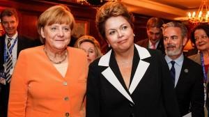 Brazil backs long term zero carbon goal as Merkel visits